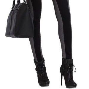 Bcbg Max Azria Large Sasha Legging Black Pant Gray